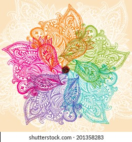 Colourful mandala symbol