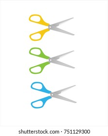 Colourful scissors in vector graphics