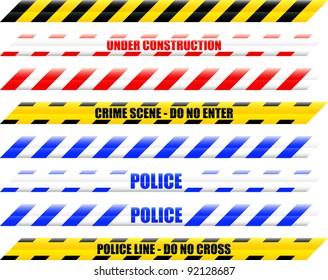A Colourful Selection of Seamless Vector Warning Tape