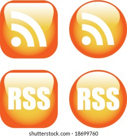 A Colourful set of RSS Icons
