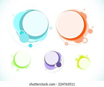 Colourful speech bubbles, EPS 10