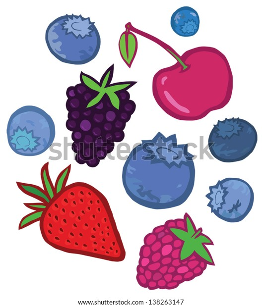 Colourful Tasty Berries Set