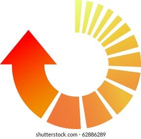 A Colourful Vector Arrow Illustration