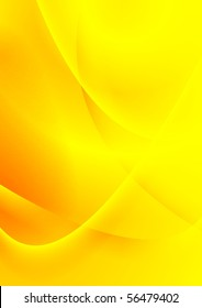 Colourful yellow smooth waves background. Vector design card eps 10