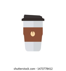 colourfull coffee cup flat icon illustration for coffeshop and website