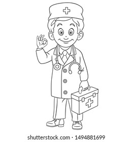 Doctor Coloring Pages Photos - 2,724 doctor coloring Stock