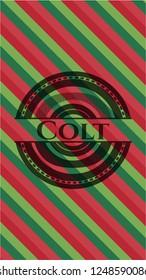 Colt christmas badge.