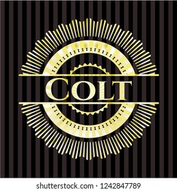 Colt gold shiny emblem