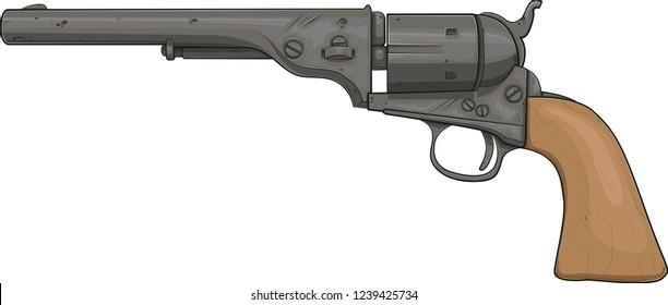 """Colt Revolver 1871 Open Top, cal .45"""", Black Finish"""
