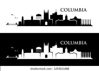 Columbia skyline - Missouri, United States of America, USA - vector illustration