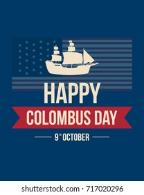 Columbus day celebration background design