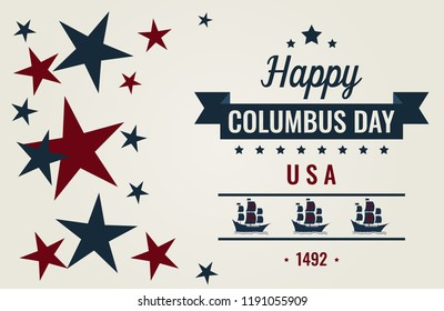 Columbus day greeting card or background. vector illustration.