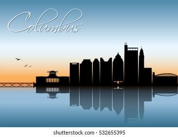 Columbus, Ohio skyline - vector illustration