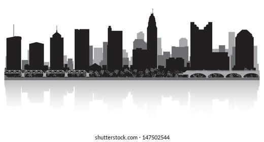 Columbus USA city skyline silhouette vector illustration