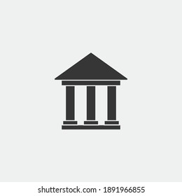 column building icon society and bank building