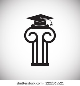 1fde90bf70c MBA Education Greek Column Graduation Hat Stock Vector (Royalty Free ...