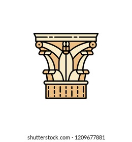 Column icon. Element of color ancient greece  icon for mobile concept and web apps. Colored Column icon can be used for web and mobile