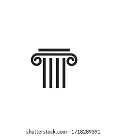Column icon Template vector illustration design