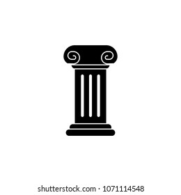column for a statue icon. Element of theater and art illustration. Premium quality graphic design icon. Signs and symbols collection icon for websites, web design, mobile app on white background