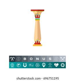 Column in Sumerian style vector icon