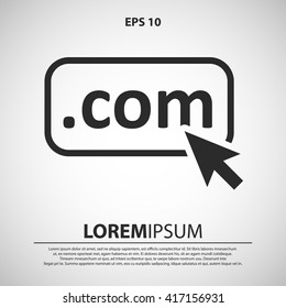 com domain icon. mouse click com domain vector illustration