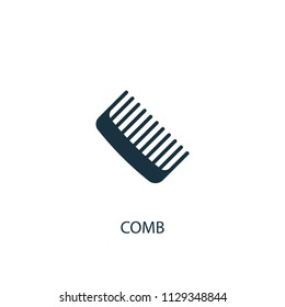 Comb creative icon. Simple element illustration. Comb concept symbol design from Beauty collection. Can be used for web and mobile.