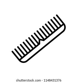 Comb icon vector icon. Simple element illustration. Comb symbol design. Can be used for web and mobile.