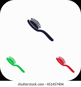 Comb Illustration set. Blue, green, red icon.