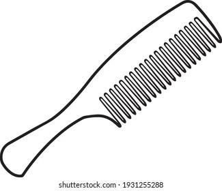 comb line vector illustration,colorong comb.