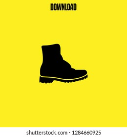combat boots icon vector. combat boots vector graphic illustration
