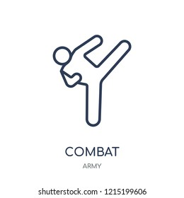 combat icon. combat linear symbol design from Army collection.