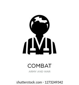 combat icon vector on white background, combat trendy filled icons from Army and war collection, combat simple element illustration