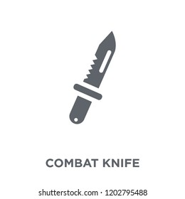 combat knife icon. combat knife design concept from Army collection. Simple element vector illustration on white background.