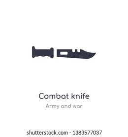 combat knife icon. isolated combat knife icon vector illustration from army and war collection. editable sing symbol can be use for web site and mobile app