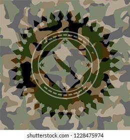 combat knife icon on camouflaged texture