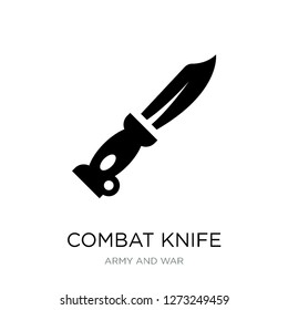 combat knife icon vector on white background, combat knife trendy filled icons from Army and war collection, combat knife simple element illustration