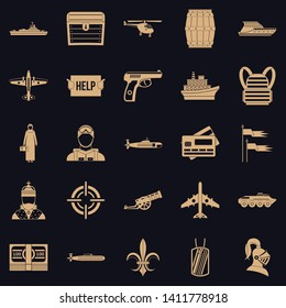 Combat vehicles icons set. Simple set of 25 combat vehicles vector icons for web for any design
