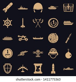 Combative icons set. Simple set of 25 combative vector icons for web for any design