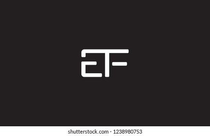 The combination of alphabet E and F vector for illustration