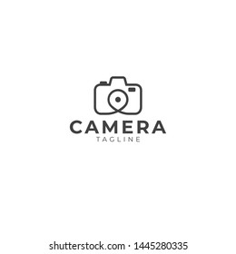 Combination Camera and Pin Logo Design
