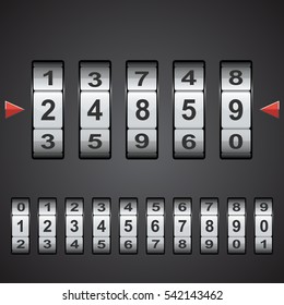 Combination, code lock number. Vector concept illustration for design.