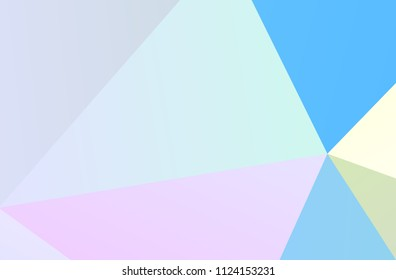 The combination of colored geometric shapes. Minimal design. Light Pink, Blue color The combination of colored geometric shapes. Minimal design. background.  Vector illustration