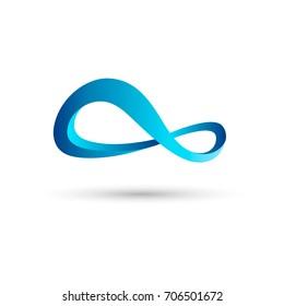 Combination of Figure 8. Abstract Vector Logo Design Template. Creative Infinity Concept Icon