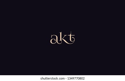 The combination of letter a,k and t vector for illustration