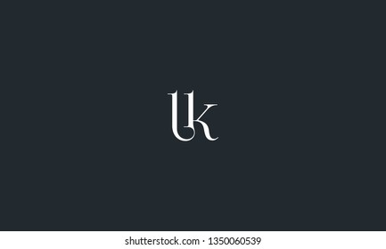 The combination of letter l and k vector for illustration