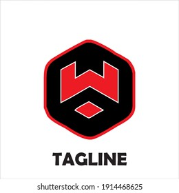 combination of the letter W with a cool hexagon and the right color combination. suitable for use for community logos, companies, products and so on