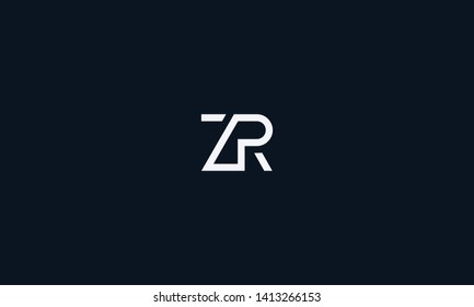 The combination of letter Z and R initials vector for logo design or illustration