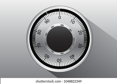 Combination lock Graphic vector