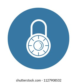 combination lock icon. Element of lock and keys icons for mobile concept and web apps. Badge style combination lock icon can be used for web and mobile apps on white background