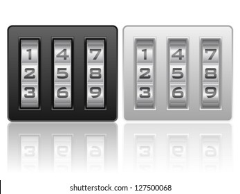 Combination lock icons on a white background.